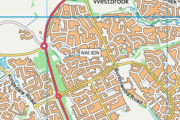 WA5 8DN map - OS VectorMap District (Ordnance Survey)