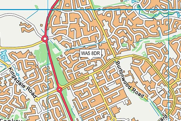 WA5 8DR map - OS VectorMap District (Ordnance Survey)