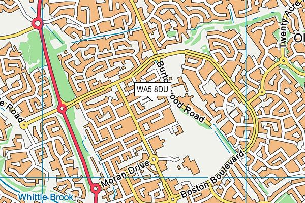 WA5 8DU map - OS VectorMap District (Ordnance Survey)