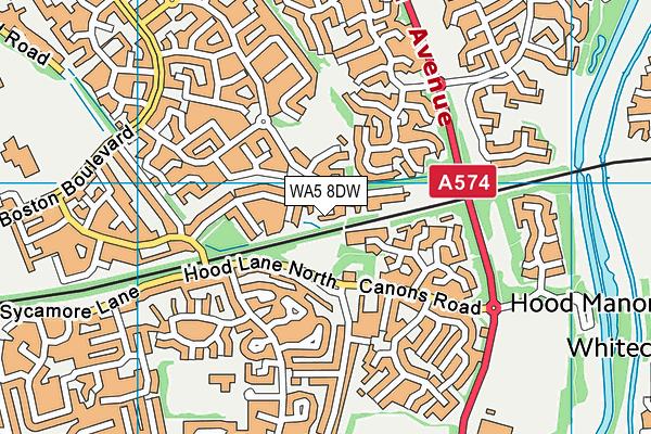 WA5 8DW map - OS VectorMap District (Ordnance Survey)