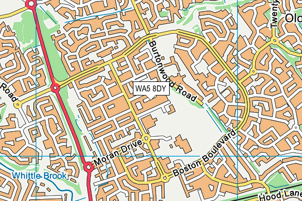 WA5 8DY map - OS VectorMap District (Ordnance Survey)