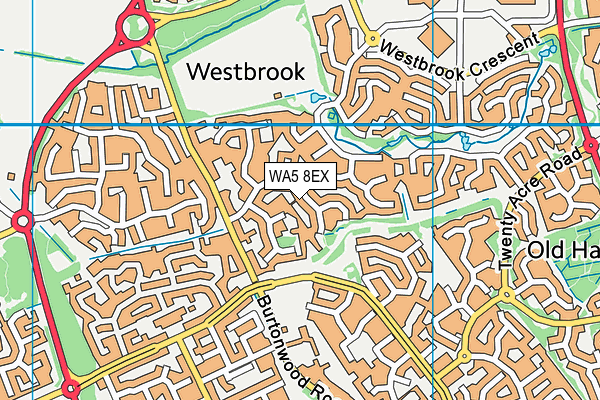 WA5 8EX map - OS VectorMap District (Ordnance Survey)