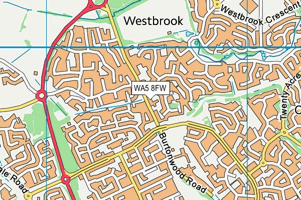 WA5 8FW map - OS VectorMap District (Ordnance Survey)