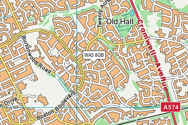 WA5 8GB map - OS VectorMap District (Ordnance Survey)