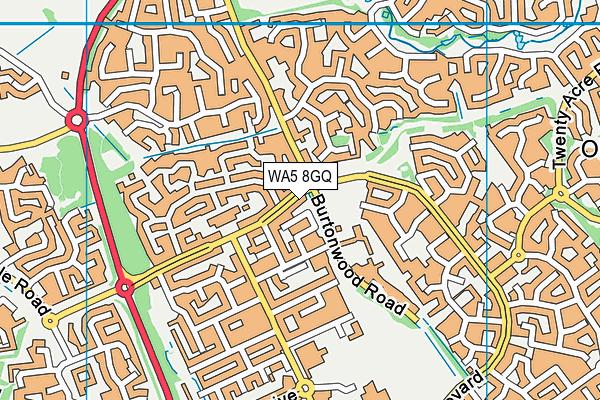 WA5 8GQ map - OS VectorMap District (Ordnance Survey)