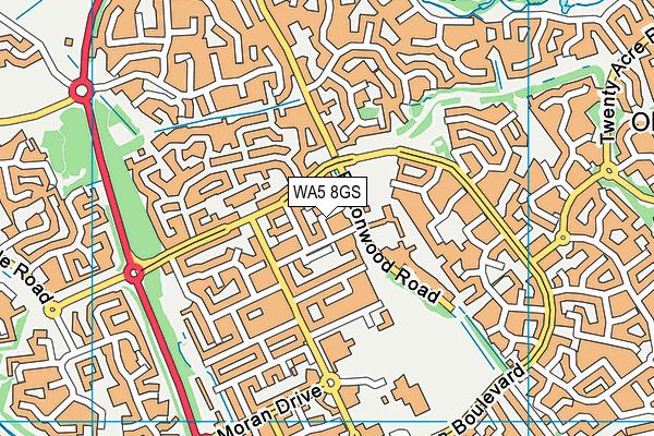 WA5 8GS map - OS VectorMap District (Ordnance Survey)