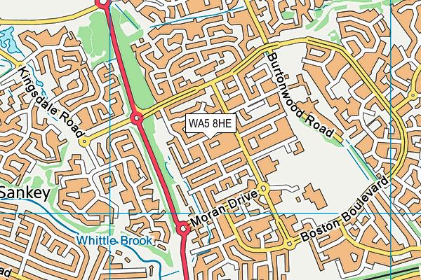 WA5 8HE map - OS VectorMap District (Ordnance Survey)