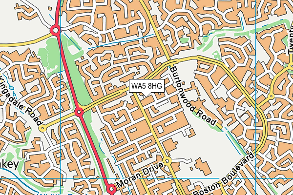 WA5 8HG map - OS VectorMap District (Ordnance Survey)