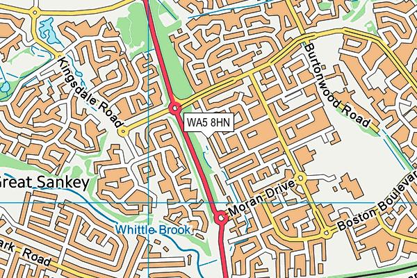 WA5 8HN map - OS VectorMap District (Ordnance Survey)