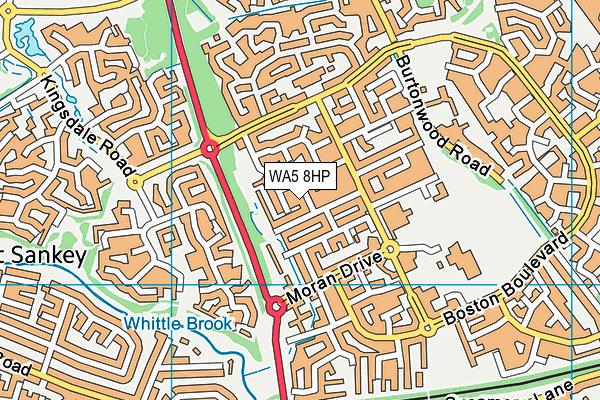 WA5 8HP map - OS VectorMap District (Ordnance Survey)