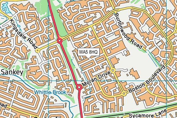 WA5 8HQ map - OS VectorMap District (Ordnance Survey)