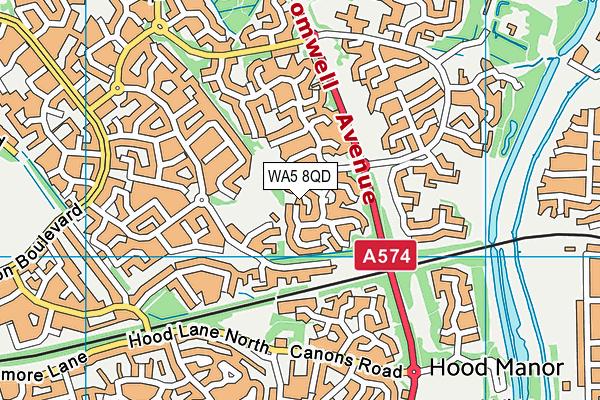 WA5 8QD map - OS VectorMap District (Ordnance Survey)
