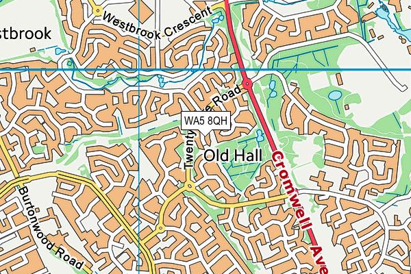 WA5 8QH map - OS VectorMap District (Ordnance Survey)