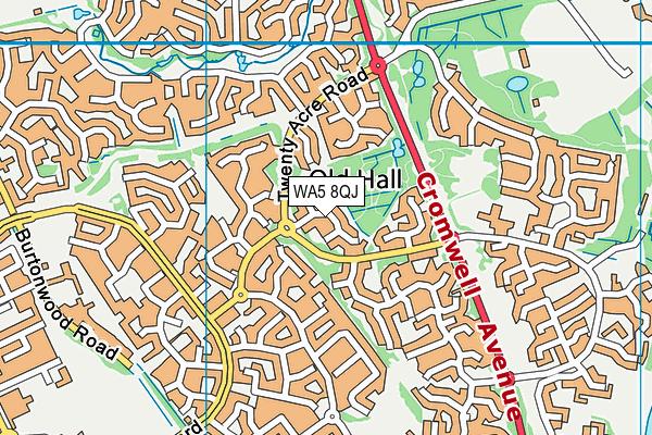 WA5 8QJ map - OS VectorMap District (Ordnance Survey)