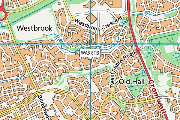 WA5 8TB map - OS VectorMap District (Ordnance Survey)