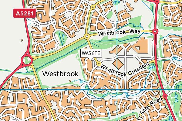 WA5 8TE map - OS VectorMap District (Ordnance Survey)