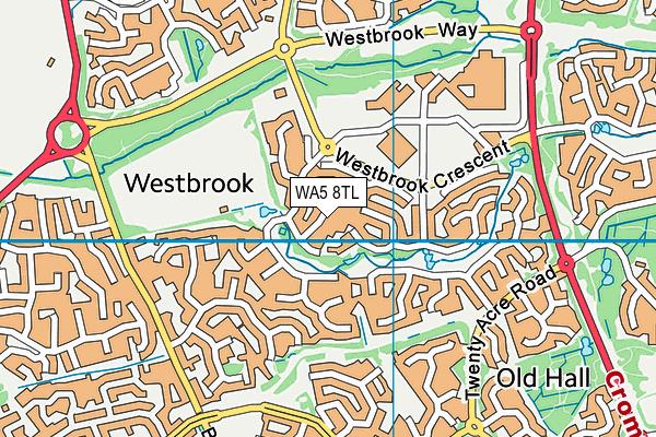 WA5 8TL map - OS VectorMap District (Ordnance Survey)
