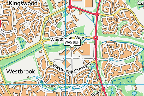 WA5 8UF map - OS VectorMap District (Ordnance Survey)