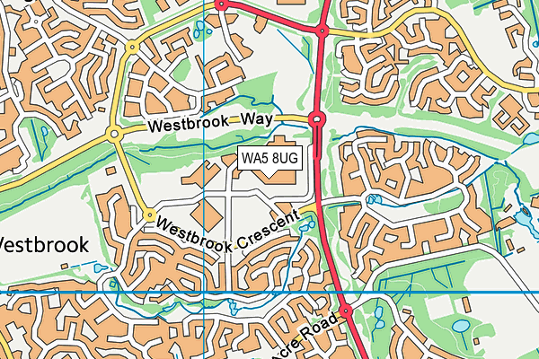 WA5 8UG map - OS VectorMap District (Ordnance Survey)
