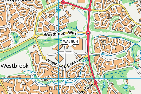 WA5 8UH map - OS VectorMap District (Ordnance Survey)