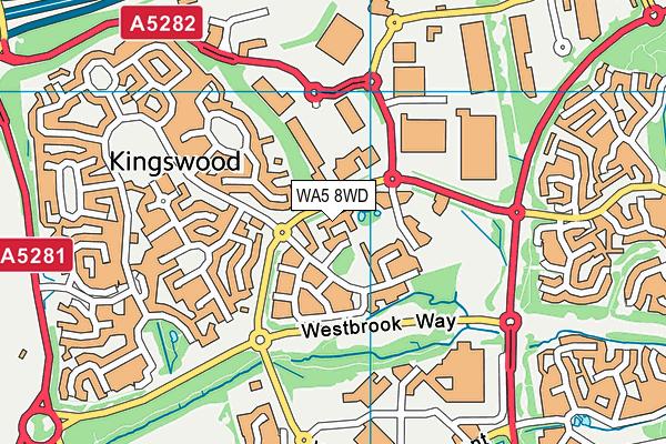 WA5 8WD map - OS VectorMap District (Ordnance Survey)