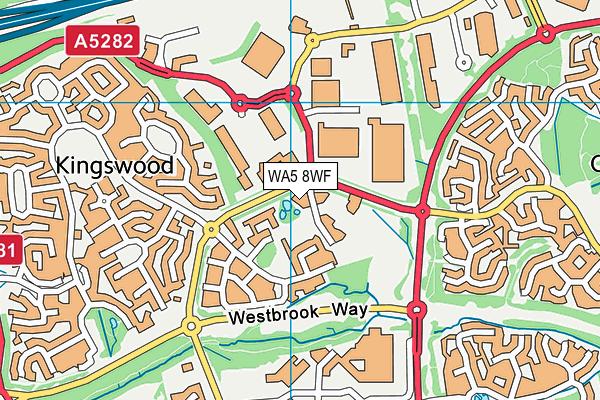 WA5 8WF map - OS VectorMap District (Ordnance Survey)