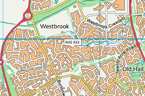 WA5 8XX map - OS VectorMap District (Ordnance Survey)