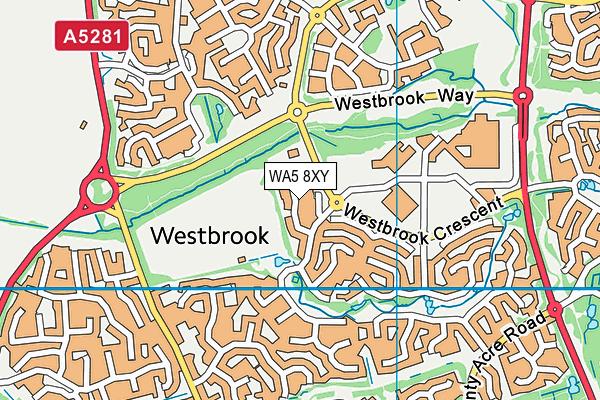 WA5 8XY map - OS VectorMap District (Ordnance Survey)