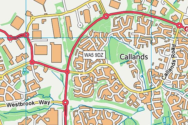 WA5 9DZ map - OS VectorMap District (Ordnance Survey)