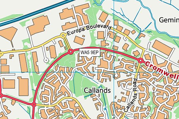 WA5 9EP map - OS VectorMap District (Ordnance Survey)