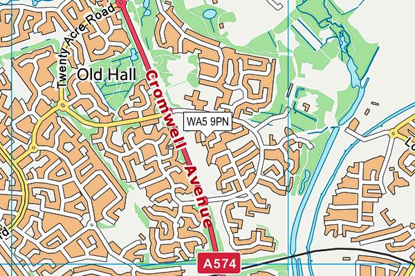 WA5 9PN map - OS VectorMap District (Ordnance Survey)