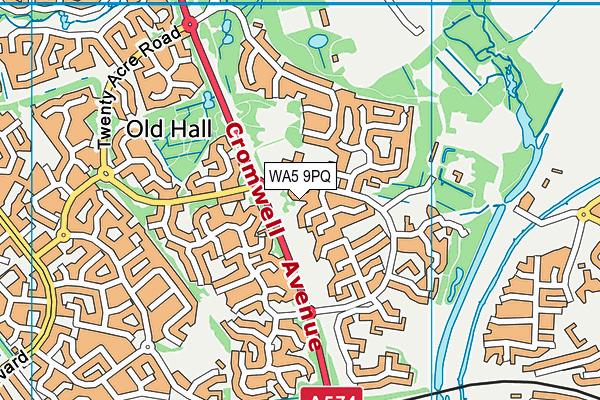 WA5 9PQ map - OS VectorMap District (Ordnance Survey)