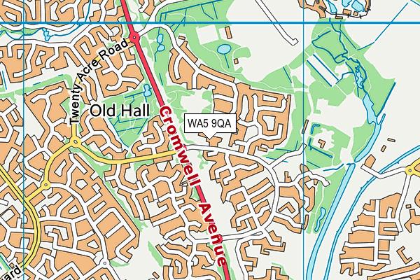 Westbrook Old Hall Primary School map (WA5 9QA) - OS VectorMap District (Ordnance Survey)