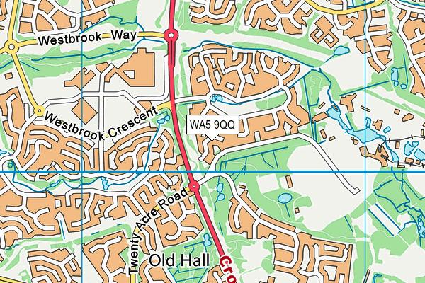 WA5 9QQ map - OS VectorMap District (Ordnance Survey)