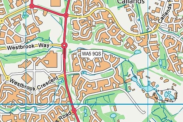WA5 9QS map - OS VectorMap District (Ordnance Survey)