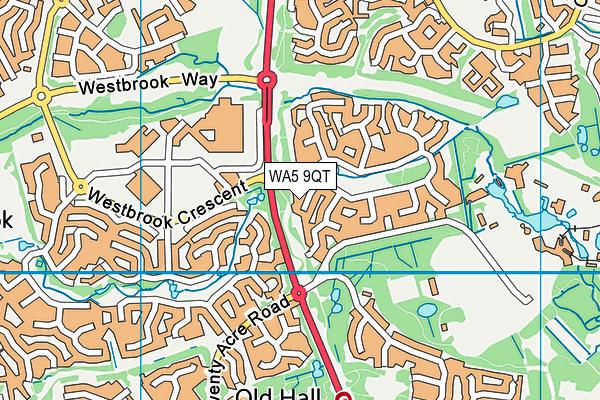 WA5 9QT map - OS VectorMap District (Ordnance Survey)