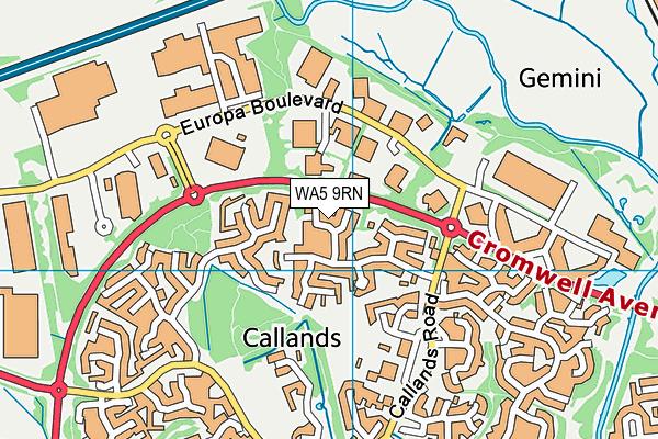 WA5 9RN map - OS VectorMap District (Ordnance Survey)