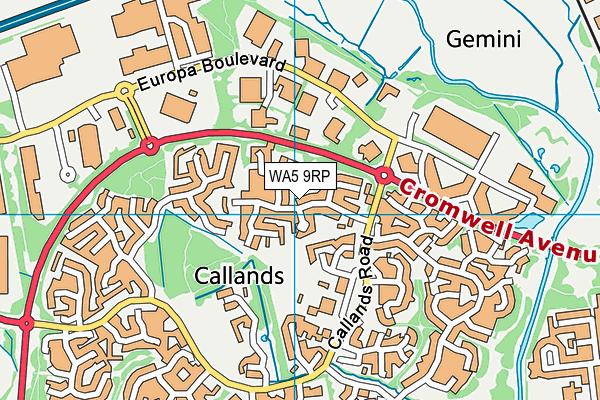 WA5 9RP map - OS VectorMap District (Ordnance Survey)