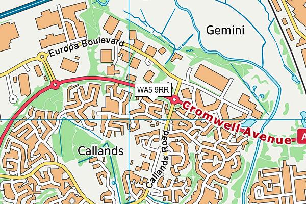 WA5 9RR map - OS VectorMap District (Ordnance Survey)