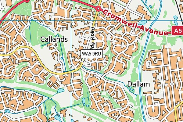 WA5 9RU map - OS VectorMap District (Ordnance Survey)