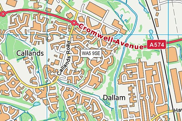 WA5 9SE map - OS VectorMap District (Ordnance Survey)