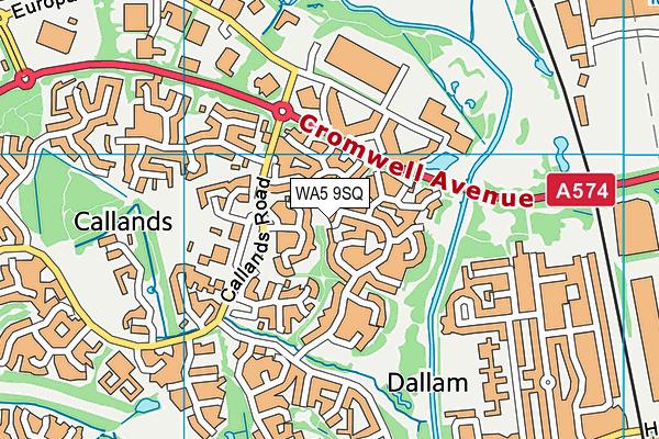 WA5 9SQ map - OS VectorMap District (Ordnance Survey)