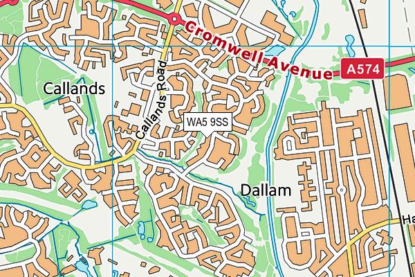 WA5 9SS map - OS VectorMap District (Ordnance Survey)