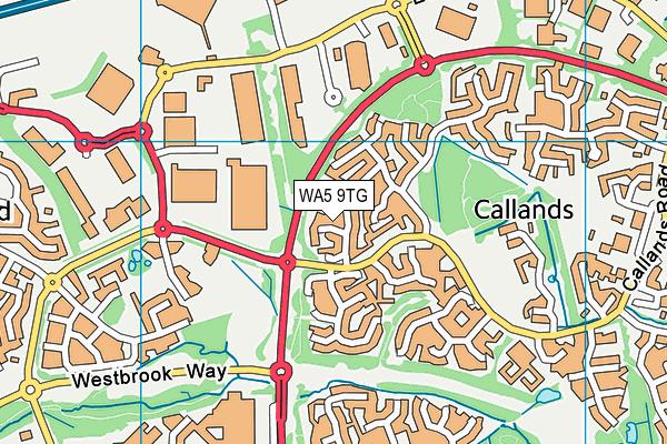 WA5 9TG map - OS VectorMap District (Ordnance Survey)