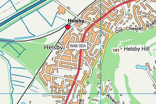 Map of HELSBY MOT AND SERVICE CENTRE LIMITED at district scale