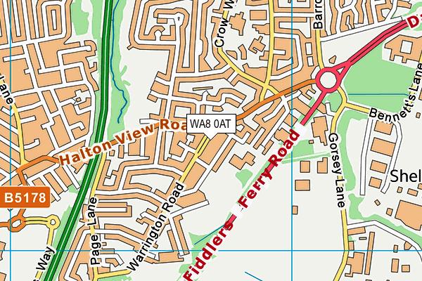WA8 0AT map - OS VectorMap District (Ordnance Survey)