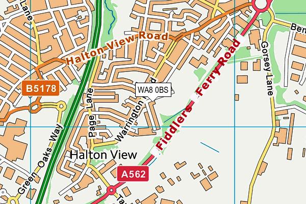 Aspiring Foundations Federated Nursery Schools - Warrington Road Nursery School map (WA8 0BS) - OS VectorMap District (Ordnance Survey)