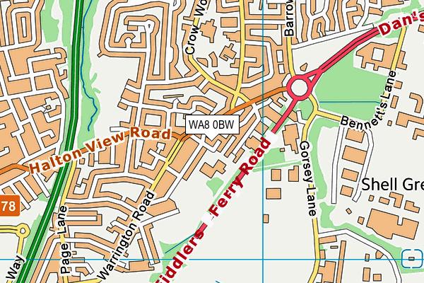 St John Fisher Catholic Primary School map (WA8 0BW) - OS VectorMap District (Ordnance Survey)