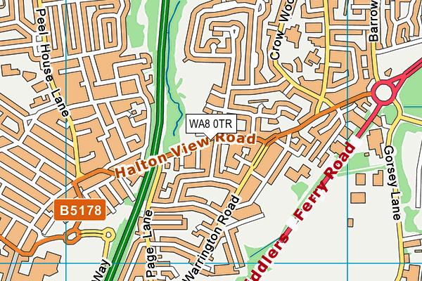 WA8 0TR map - OS VectorMap District (Ordnance Survey)