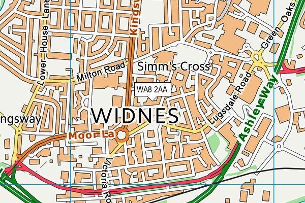 WA8 2AA map - OS VectorMap District (Ordnance Survey)